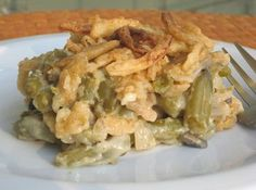 Green Bean Casserole--the filling might work on this one if we switch out the soy milk for almond or coconut. The store-bought onions have soy flour and wheat flour in them so we have to find a scratch alt.