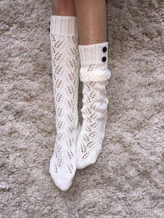 Womens Knit Boot Sock Womens Boot Cuffs Womens by ColoradoChickCo