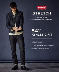 Levi's 541 Athletic Fit Cargo Pants - Red 36x30