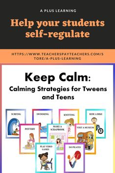 These 50 calming strategies could help your students to keep their focus and concentration, develop and enhance good coping skills as well as self-regulate. It could help them to stay calm and assist them in managing the situation and their emotions. Stay Calm, Keep Calm, Coping Skills, School Resources, My Teacher, Anxious, Calming, Tween, Back To School