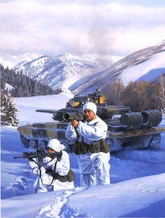 Army Rangers with Anti-Tank Rocket, GI Joe illustration by Larry Selman