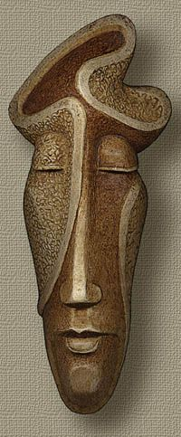 Amazing Paintings, Sculpture, Graphics Drawings by Boris Indrikov Abstract Sculpture, Wood Sculpture, Metal Sculptures, Bronze Sculpture, Tiki Maske, Afrique Art, Ceramic Mask, Russian Painting, Art Africain