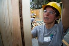 Katherin DaSilva, an AmeriCorps member serving her second year with Habitat for Humanity of the Mississippi Gulf Coast, helps frame a home during the first week of the 2013 AmeriCorps Build-a-Thon, hosted by Lake-Sumter Habitat for Humanity in Florida. ©Habitat for Humanity International/Jason Asteros