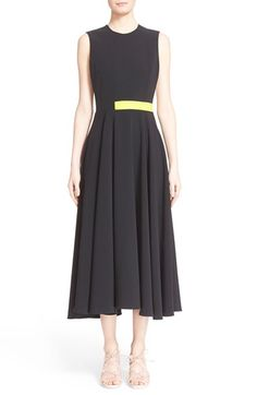 Roksanda 'Sage' Colorblock Sleeveless Midi Dress available at #Nordstrom