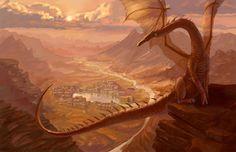 Smaug by Praxiteles in Tolkien's Middle-Earth Fan Art