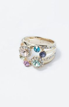 Spring Bouquet Ring ♥ I'm not big on real gems and gold, but I really like this ring.