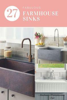 I love Farmhouse Sinks with deep basins. #farmhousesink #farmhousekitchen #deepsink #ad