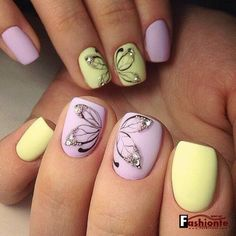 Cute butterflies nail art