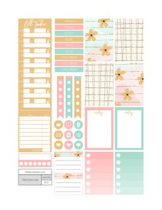 Little Yellow Flower Planner Stickers - Fit Life Creative