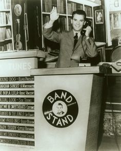 American Bandstand, a very young Dick Clark And we all remeber this guy, looking just as young as we were.  Thanks Dick Clark for all those great memories.