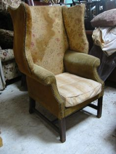 Early 19th Century Wing Chair - before !