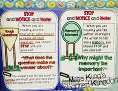 Notice and Note signpost Posters!  These have helped my students to become independent readers!