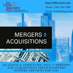 #EdLloyd's mergers and acquisitions services offers support services for your.  Visit website for more information:http://edlloydandassociates.com/
