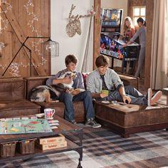 Cushy Lounge Super Sectional Set & Base by PB Teen: Stylish Lounging interior design ideas