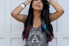 Dip dyed hair. this one is not so over the top =)