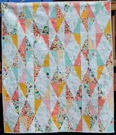Riley Blake Designs Blog: Diamond Drop Quilt Tutorial // Fabric: Fancy & Fabulous by Fancy Pants Designs #iloverileyblake