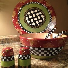 "Hand Painted 15"" Lazy Susan"