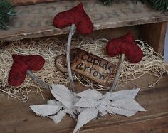 Primitive Valentine's Day Cupids Arrows Shelf Sitters Bowl Fillers Ornies
