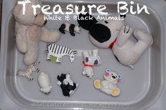Love these thematic Treasure Bins for Baby - Wildflower Ramblings