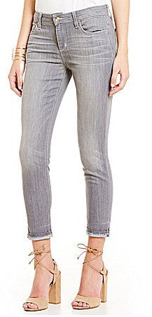 Joe's Jeans Justina Markie Crop Jeans + nude ankle wrap sandals = Spring fashion on ShopStyle