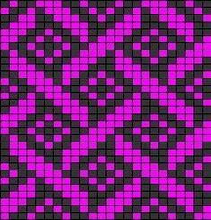 work as in panels for blanket Tapestry Crochet Patterns, Fair Isle Knitting Patterns, Bead Loom Patterns, Knitting Charts, Mosaic Patterns, Knitting Stitches, Beading Patterns, Cross Stitch Patterns, Graph Paper Art