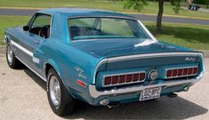 Two of my favorites. The 1968 Mustang and aqua.