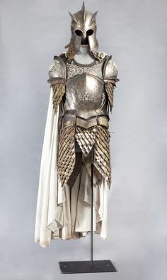 This is a picture of the armor of a knight.  This armor would protect them in battle.  It would help stop arrows and swords from piercing a knights skin.  The armor protected you well, but it was heavy which meant it slowed down a knights stamina.