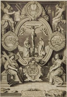 Crucifixion with the Virgin and Saint John, with Four Angels with the Instruments of the Passion | Harvard Art Museums
