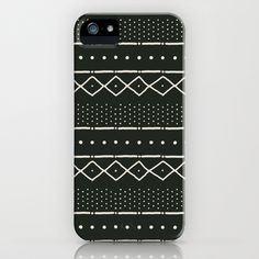 Mudcloth+in+bone+on+black+iPhone+&+iPod+Case+by+Domesticate+-+$35.00