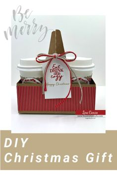 Need a cute DIY Christmas gift? This is an affordable and fun idea to share with lots of family and friends on your list! The supplies used will also work year round to be adapted for birthday, Valentines day, Easter and beyond. Watch the tutorial at www.lisasstampstudio.com #diychristmasgift #handmadechristmasgift #affordablechristmasgift #creativechristmasgiftidea #lisacurcio #lisasstampstudio