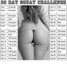 Get the perfect butt by doing this 30 day Squat Challenge