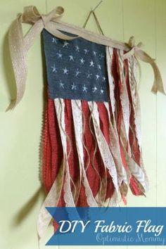 DIY Fabric Flag by callie