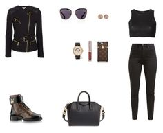 """Look do Dia"" by julianaf121 ❤ liked on Polyvore featuring Givenchy, MICHAEL Michael Kors, Levi's, Prada, Calvin Klein Collection, Urban Decay, IWC Schaffhausen and Ron Hami"
