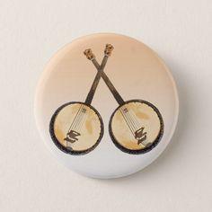 Banjos Musical Instrument Button