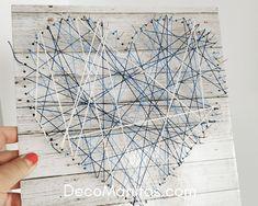 Hilorama fácil con alfileres sobre foam para decorar tu casa Diy, Blog, House Decorations, Lining Drawers, Heart Template, Do It Yourself, Bricolage, Blogging, Handyman Projects