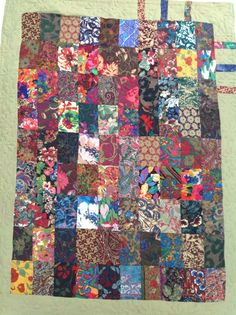 Quilt pieced with Liberty Varuna wool samples.