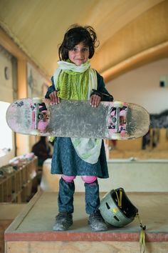 Inspiring Portraits Of The Badass Skate Girls Of Kabul #refinery29  http://www.refinery29.com/skate-girls-kabul#slide-6  A formative set of wheels.
