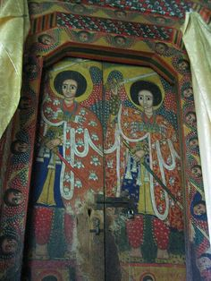Angels protect the door into the holiest of holies. Ethiopia