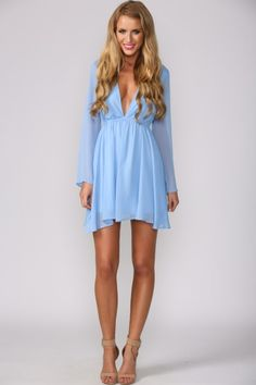 Avenue Dress Baby Blue....I would wear it with legging's or Jeans with tank top to make more modest.