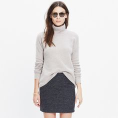 Wafflestitch Turtleneck Sweater | madewell