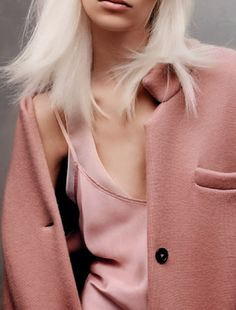 Love the colour of this coat! Lexi Boling by Jason Kibbler for Vogue Russia March 2014 Looks Style, Looks Cool, Style Me, Pink Style, Swag Style, Trendy Style, Fashion Details, Look Fashion, Womens Fashion