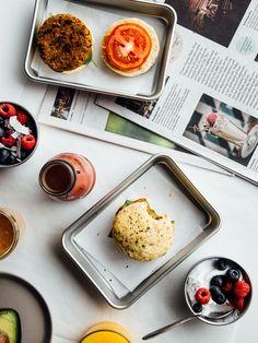Smoky tempeh breakfast sandwiches