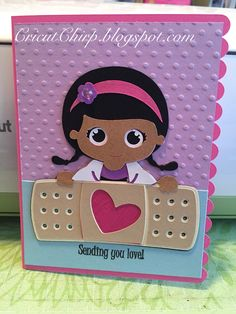 Doc McStuffins Cricut Explore card. SVG file from PPBN Designs