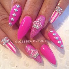Princess nails . Lovee except id get a different color not pink