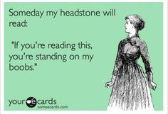 Headstone should read: