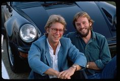 Gerry Beckley and Dewey Bunnel of folkrock duo America lean against a car America is best remembered for the anthemic 'A Horse with no Name'