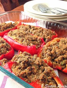 Fast & Easy Oven Roasted Baby Back Ribs - 2 Sisters Recipes by Anna and Liz Fried Peppers, Sausage And Peppers, Stuffed Peppers, Pork Back Ribs Oven, Pork Ribs, Sweet Italian Sausage, Tomato Sauce Recipe, Sicilian Recipes, Risotto Recipes
