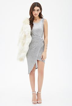 Knotted Metallic Wrap Dress | FOREVER21 - 2000080611