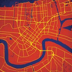 New Orleans, Louisiana | City Prints Map Art