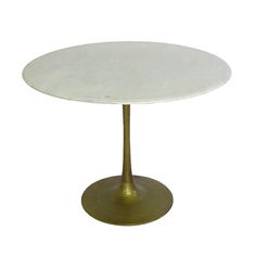 Marble & Brass Tulip Table @ Pieces